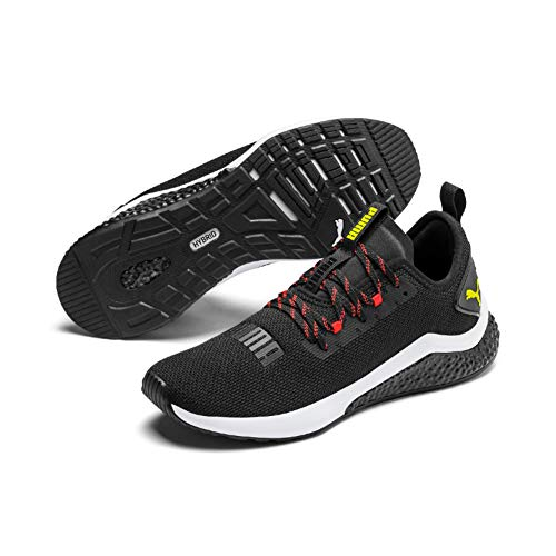 PUMA Hybrid NX, Zapatillas de Running para Hombre, Black-Nrgy Red-Yellow Alert, 40.5 EU