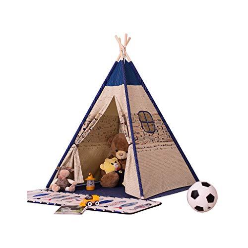 FANGDA Kinder Tuch Zelt Indoor Großwildhaus Baby Spielzeug Haus Prinzessin Haus Kinder Fotografie Requisiten (Zelt enthält Matten) 120 * 120 * 156cm,A