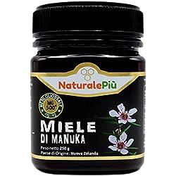 Miel de Manuka 500+ MGO 250 gr   Produit en Nouvelle-Zélande. Actif et brut, 100 % pur et naturel   Méthylglyoxal testé  