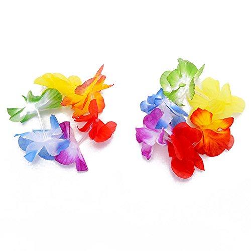 Forfar Stirnband Halskette und Armbänder New Hot Hawaiian Verrücktes Kleid Blumen Lei Halskette Garland Kostüm Set (Halloween Kostüme Hawaiianische)