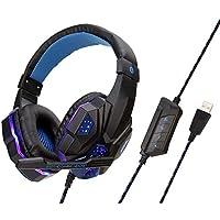 2b1fc234e33475 XHMCDZ USB Gaming Headse (2019 Nuova Versione) -7.1 Audio Surround-Cuffie  Audio