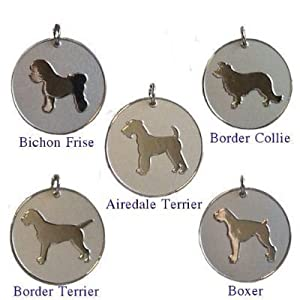 Personalised Dog Pet Identity ID Tag Disc Engraved from County Engraving