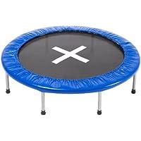 Ultrasport Trampolin Jumper 120 cm, vielseitiges Minitrampolin für Kinder und Erwachsene, ideal als kompaktes Gartentrampolin oder als Fitnesstrampolin indoor, sicherer Stand durch 8 stabile Füße
