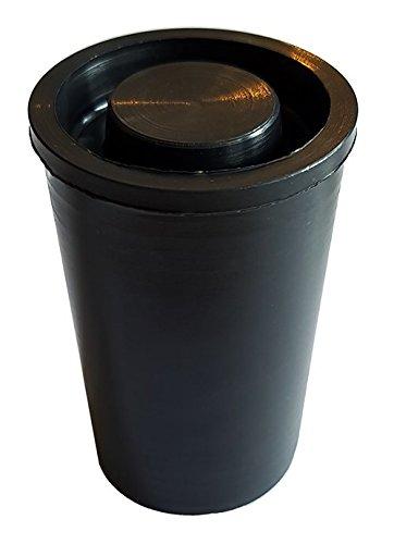 geo-versand 100 x wasserdichte Schwarze filmcanister Film can filmdöschen filmdose kleine dose mit Deckel, 4,8 cm x 3 cm