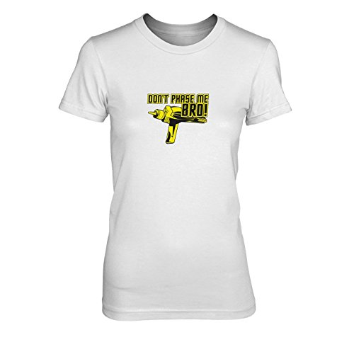 Don't Phase me Bro - Damen T-Shirt, Größe: XL, Farbe: weiß (Next Star Uniform-farben Generation Trek)