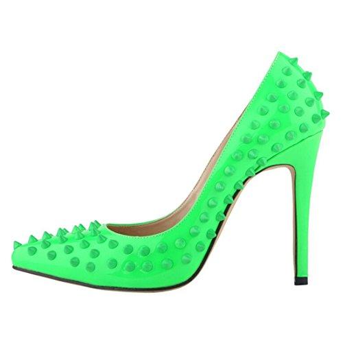 Oasap Damen Fashion Nieten Stiletto High Heels Orange
