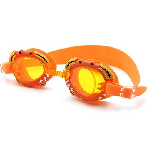 Schwimmbrillen,für Männer Frauen Mädchen,Kinder Antibeschlag HD komfortable süße Brille, orange,Schwimmbrille mit Antibeschlag und UV Schutz