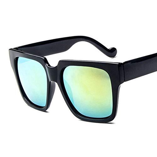 YLNJYJ New Übergroße Quadratische Sonnenbrille Frauen Männer Mode Großen Rahmen Sonnenbrille Vintage Retro Marke Schwarz Spiegel Sonnenbrille Shades Brillen