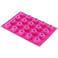 BeautyLifeⓇ 20er Mini Gugelhupf Backform Silikon Gugelhupfform 30x20x2.3cm, Rosa