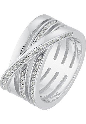 JETTE Silver Damen-Ring 925er Silber 67 Zirkonia silber, 57 (18.1)