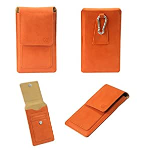 J Cover A15 F Nillofer Series Leather Pouch Holster Case For Sony St23A Orange