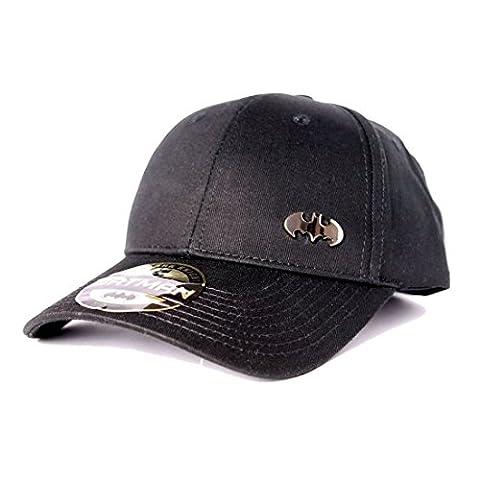 Batman Baseball Cap with Metal Logo Black