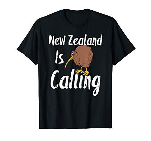 New Zealand is calling Shirt Abschiedsgeschenk Backpacker