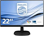 "Philips 223V7QDSB - monitor FHD 22"", bez migotania, inteligentny obraz, wąska krawędź, tryb LowBlue (1920"