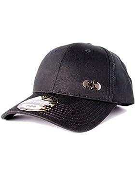 gorra de béisbol Batman con el logotipo de metal negro