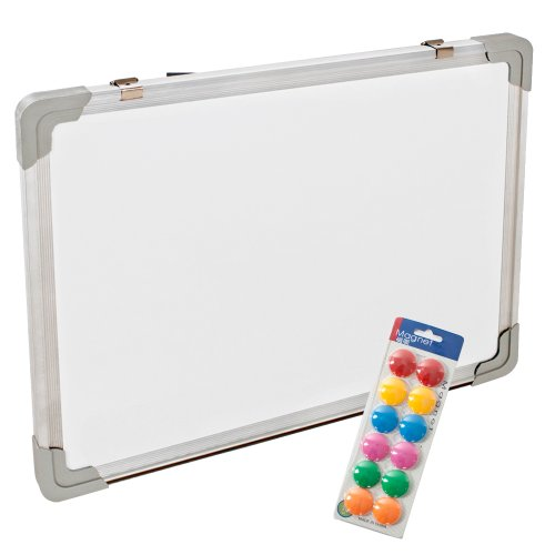 tectake-40x30cm-magnettafel-whiteboard-memoboard-inkl-12-magnete