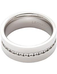 Leonardo Jewels Damen-Ring Glizz klar Edelstahl Glas