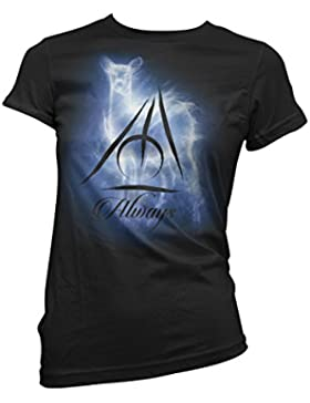 LaMAGLIERIA T-Shirt Donna Always - Severus Piton Maglietta Serie TV Harry Potter 100% Cotone