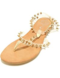 7851F sandalo trasparente oro JEFFREY CAMPBELL RUBICON scarpa donna shoes women
