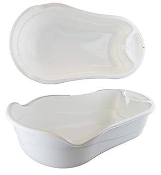 First Steps Baby Plastic White Bath Tub: Amazon.co.uk: Baby