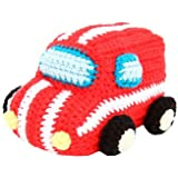 Fair Trade Knitted Crochet Red Van