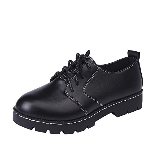 Damen Schuhe,TWBB Mode Leder Schnüren Leichtgewicht Schuhe Luftkissen Casual Schuhe Outdoor Freizeitschuhe