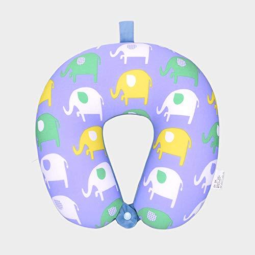 Mmban Ergonómicamente Diseñado Adulto Infantil Avión Tren Coche Oficina O Camping Viajes Almohada Memoria Suave Algodón En Forma De U Cuello Cuello Almohada Elefante