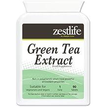 Zestlife Estratto di tè verde ( 1000mg - 90 compresse ) * NEW introduttivo prodotto Offerta Speciale * alto contenuto di antiossidanti ; Perdita di peso