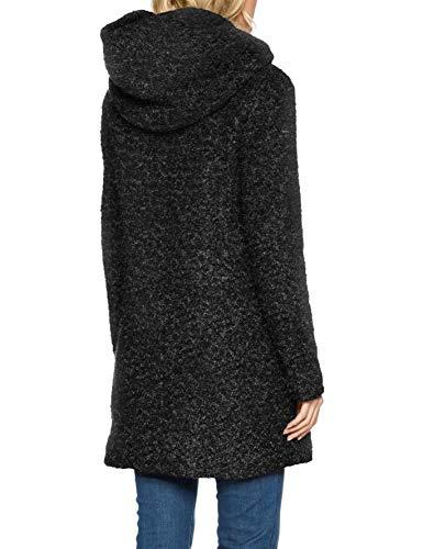 ONLY NOS Damen Mantel onlSEDONA Boucle Wool Coat OTW NOOS, Schwarz (Black Detail:Melange), 34 (Herstellergröße: XS) - 2