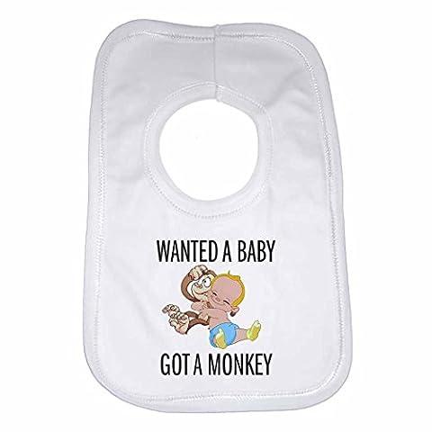 Wanted A Baby Got un singe–personnalisée Bavoir Bébé, Enfant pour