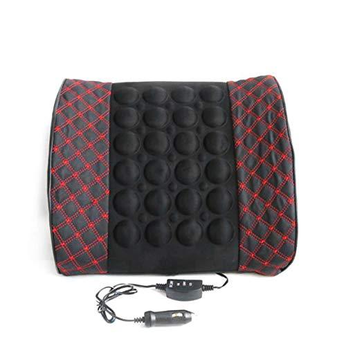 Garciadia Mikrofaser-Leder-Auto Rückenstütze Lendenwirbel Posture Unterstützung Breathable Electrical Massagekissen Health Care-Tool -