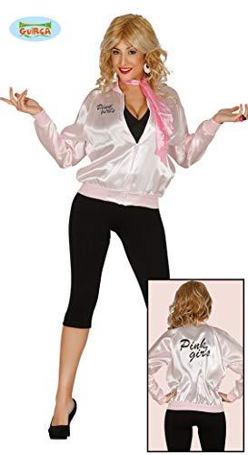 50er Jahre Jacke Pink Girls Rock n Roll für Damen M-L, Größe:L