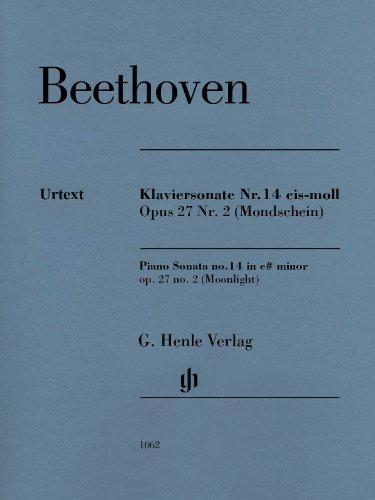 Klaviersonate Nr. 14 cis-moll Opus 27 Nr.2 (Mondschein). Revidierte Ausgabe