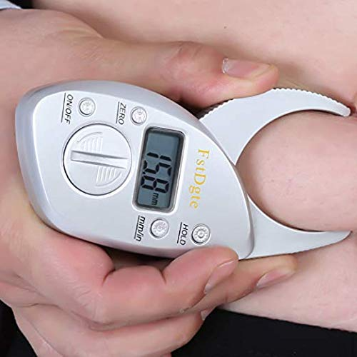 DZSF Digital Fat Caliper Elektronischer digitaler Hand-BMI-Monitor - Body-Mass-Index-Maschine mit LCD-Display-Anzeige -