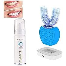 Dientes de luz fría blanqueamiento 360 ° automático en forma de U oral limpiador blanqueamiento cepillo