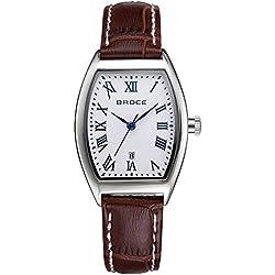 ladies waterproof watches/Retro calendar leather strap watch/Leisure quartz watch-C