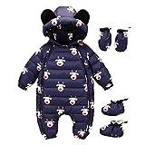 Kinder Mäntel Sunnydrain Kinderjacken Hoodie Playsuits+Handschuhe+ Socken Hirsch Winter Warm Herbst Kapuzen Outerwear Baumwolle Langarm