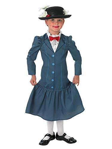 Rubie' s ufficiale 1960S Mary Poppins + Hat Girls 60S Disney Childs costume travestimento