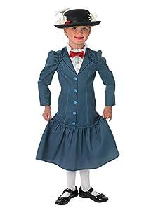 Rubies - Disfraz de Mary Poppins de los años 60 y Sombrero para niñas de Disney, Disfraz para niños de los años 60