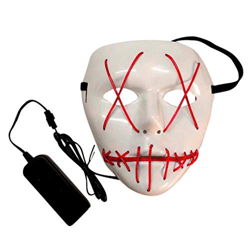 Verkauf Kostüm Purge Zum - Oyedens Halloween Maske Kinder 1 Set Halloween Horror Glowing Mask Das Purge Film EL Wire Dj Party Festival Halloween Kostüm Led Maske Hq Neu