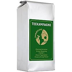 Teekampagne Darjeeling-Grüntee Chamong - milder Biotee (kbA), 250g, Finest Tippy Golden Flowery Orange Pekoe (FTGFOP1)