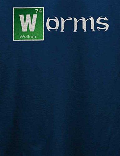 Worms T-Shirt Navy Blau