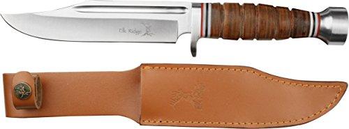 Elk Ridge Couteau d'extérieur Hunter Poignée Argenté, Longueur Totale cm : 30,48, elkr/1014