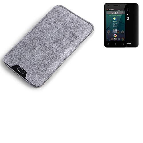 K-S-Trade Filz Schutz Hülle für Allview P42 Schutzhülle Filztasche Filz Tasche Case Sleeve Handyhülle Filzhülle grau