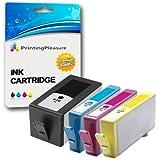 Printing Pleasure 4 XL Druckerpatronen für HP Officejet 6000 Wireless, 6000AIO, 6000SE, 6000Wide / 6500 Plus, 6500A, All-in-One, e-All-in-One, 6500AIO, 6500SE, 6500Wide / 7000, 7000AIO, 7000SE, 7000Wide / 7500A Wide Format | Ersatz für HP 920XL mit Chip