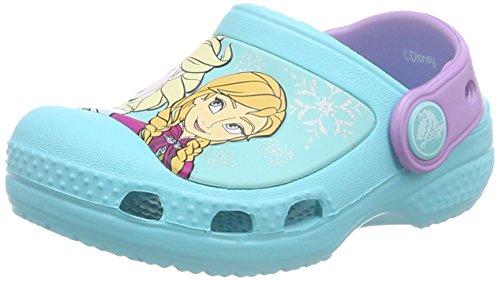 Crocs Cc Frozen, Sabots Fille Bleu (Pool)