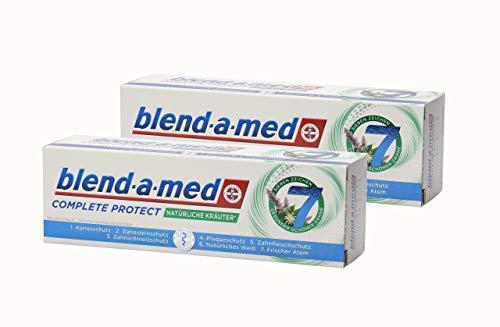 2x blend-a-med Complete Protect Natürliche Kräuter Sieben Zeichen Gesunder Schöner Zähne Zahnpasta 75ml -