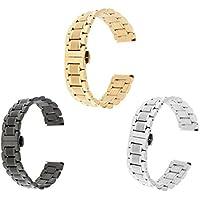 Unbekannt 3 Stk. Uhr Armband aus Metall Mesh Ersatzarmband Uhrband - 22mm
