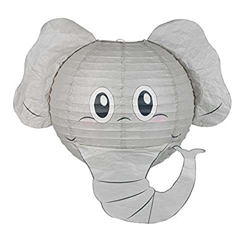 Elephant Lampshade Decorative Animal Lampshades for Children bedroom playrooms baby nursery lighting Fun and vibrant colours makes Pendant lights and Ceiling shades something special and a great gift