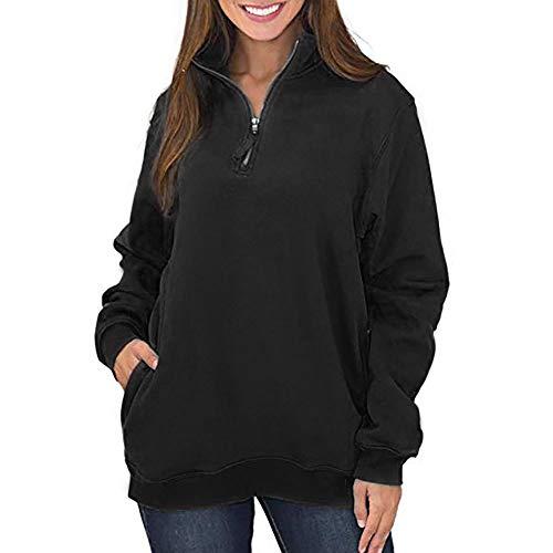 TWBB Damen Mantel,Herbst Winter Slim-Fit Einfarbig Pullover Sweatshirt Outwear
